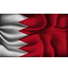 crumpled flag of Bahrain on a light background vector image vector image