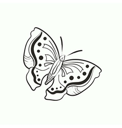 doodle butterfly for coloring book vector image vector image