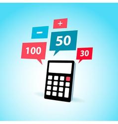 Finance element calculator icon vector