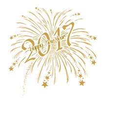 gold firework with happy new year 2017 vector image vector image