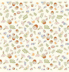 assortment easter seamless pattern vector image