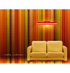 retro room vector image vector image