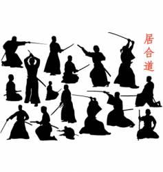 Samurais vector