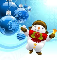 snowman with christmas balls vector image vector image