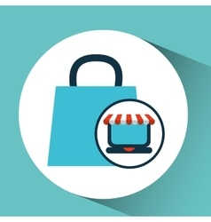 e-commerce concept bag gift cart vector image vector image