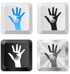 Help buttons vector image vector image