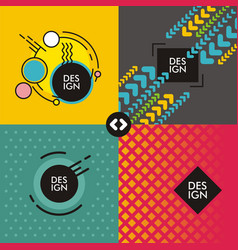 set of web backgrounds vector image