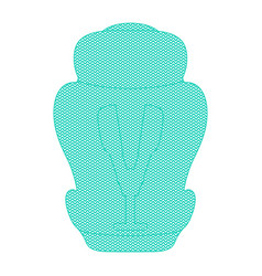 shape of child car seat isolated on a white vector image