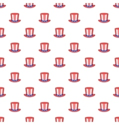 American hat pattern cartoon style vector