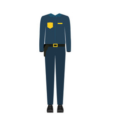 colorful silhouette with male uniform of policeman vector image vector image