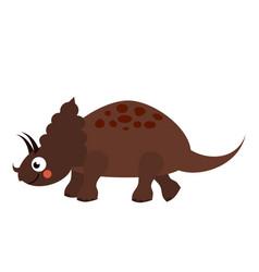 cute dinosaur cartoon dino character triceratops vector image vector image