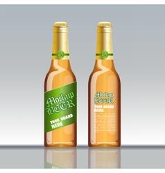 Digital brown beer mockup vector image vector image