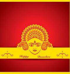 dussehra festival greeting or poster design vector image
