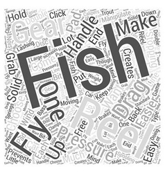 Fly Fishing Reels Word Cloud Concept vector image vector image
