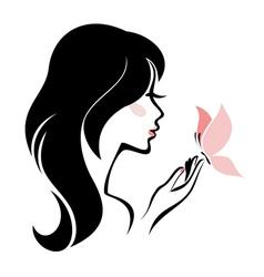 head woman vector image