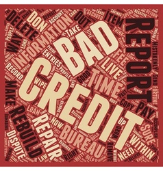 How to wipe out bad credit and rebuild your credit vector