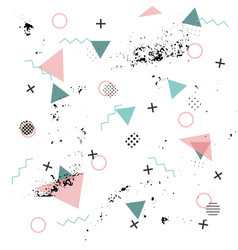 memphis background abstract pattern fashion 80 vector image vector image