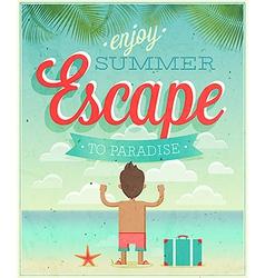 summer escape vector image vector image