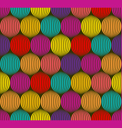 Abstract colorful spheres seamless 3d like texture vector