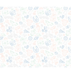baby goods store seamless background pattern vector image