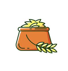 Barley rgb color icon vector