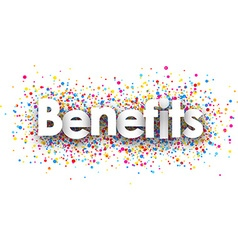Benefits paper background vector image