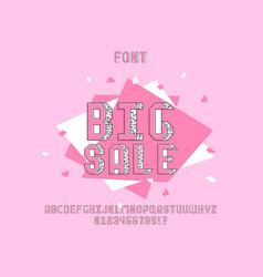 Big sale font alphabet vector