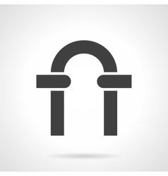 Black arch glyph style icon vector image