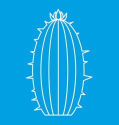 Blooming cactus icon outline style vector