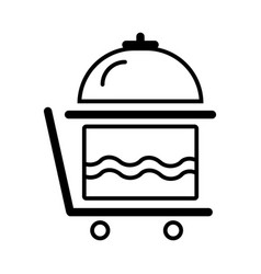 Breakfast room service icon outline vector