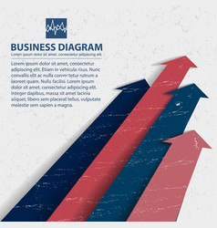 Business diagram background vector