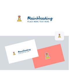 chef logotype with business card template elegant vector image