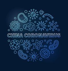 china coronavirus concept outline blue vector image