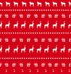 christmas deer doodle decoration background vector image