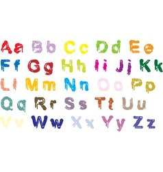 Color alphabet vector image