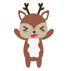 Colorful cute and cheerful deer wild animal vector
