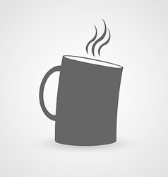 Cup of hot drink flat icon vector image