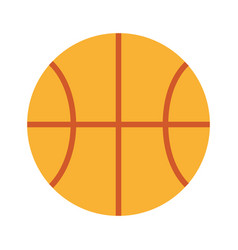 cute basketball isolated icon vector image