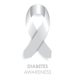 Diabetes awareness ribbon vector