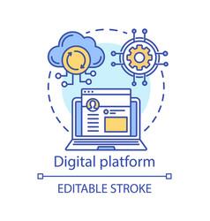 Digital platform online network concept icon vector