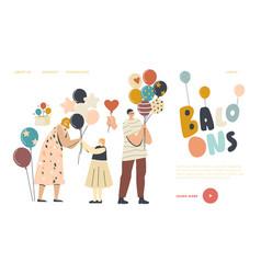 Entertainment with animator birthday celebration vector
