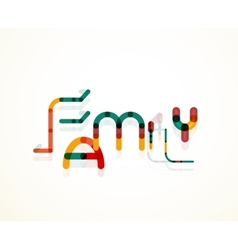 Family word concept vector image