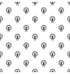 Ferris wheel pattern simple style vector image