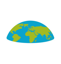 flat earth planet semicircle universe vector image