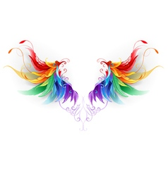 Fluffy Rainbow Wings vector
