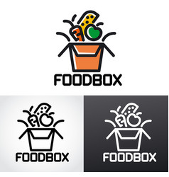 food box logo vector image
