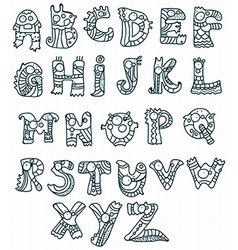 funny alphabet vector image