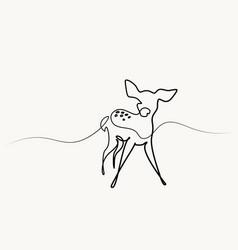 funny deer cub baby vector image