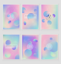 furistic modern holographic cover set vector image
