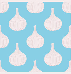 garlic seamless pattern cartoon flat style vector image